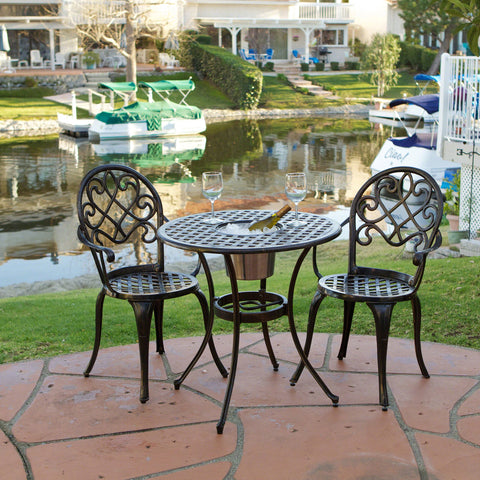 Copper Cast Aluminum 3pc Bistro Set - NH597432