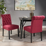Tufted Rolltop Dining Chairs (Set of 2) - NH790903