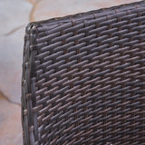 Outdoor 3 Piece Wood  and Wicker Bistro Set - NH772503