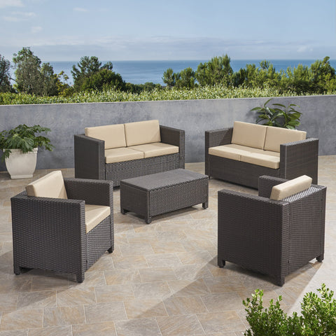 6-Seater Outdoor Sofa Set with Coffee Table - NH709903