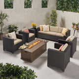 7-Seater Outdoor Fire Pit Sofa Set - NH919903