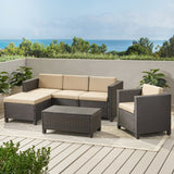 4-5-Seater Outdoor Sectional with Coffee Table - NH586003