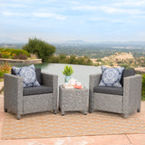2-Seater Outdoor Chat Set with Side Table - NH686003