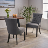 Buttonless Tufted Diamond Stitch Dining Chairs, Set of 2 - NH300903