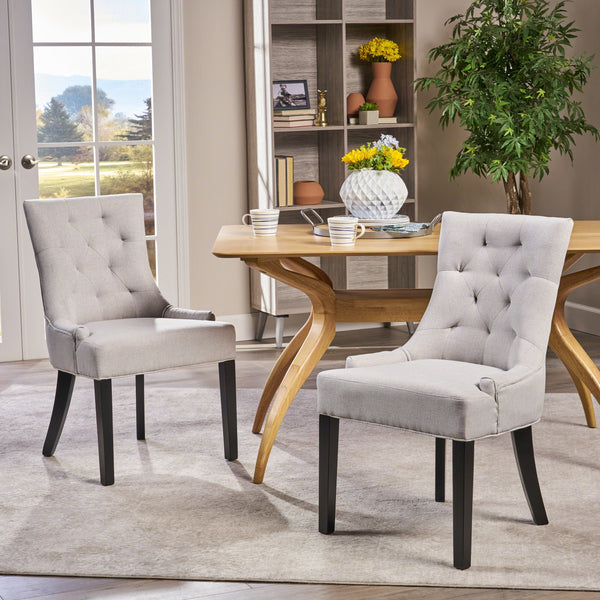 Tufted Fabric Dining Chairs (Set of 2) - NH835992