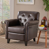 Tufted Rolled Arm Club Chair - NH795832