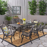 "Outdoor 64"" - 81"" 8-Seater Dining Set with Expandable Table - NH745703"