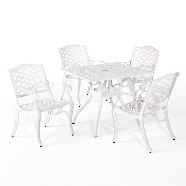 Traditional Outdoor Aluminum 5 Piece Dining Set - NH423213