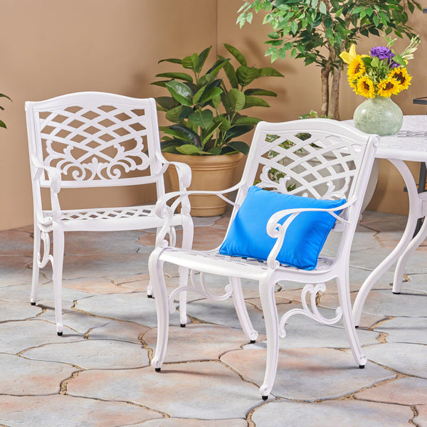 Outdoor Cast Aluminum Arm Chair (Set of 2) - NH456503