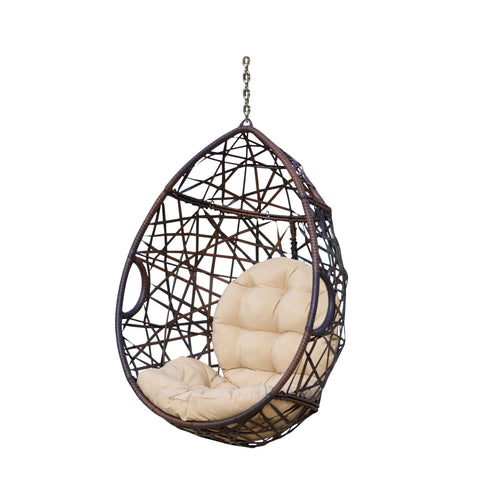Indoor/Outdoor Wicker Hanging Egg / Teardrop Chair (Stand Not Included) - NH295213