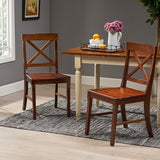 Farmhouse Acacia Wood Dining Chair (Set of 2) - NH674013