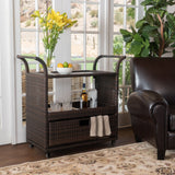 Mission Multi-brown Wicker Indoor Bar Cart - NH374892