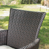 Outdoor 3Pc Wicker Bistro Set w/ Water Resistant Cushions - NH876003