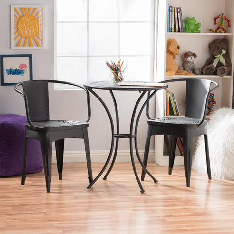 Childrens Black Table Chat Set - NH994003