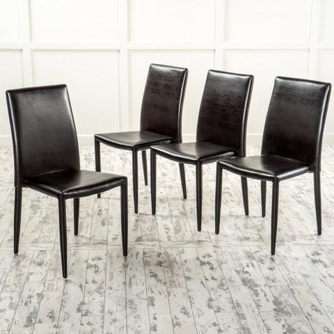 Brown Stacking Chairs (Set of 4) - NH242692