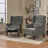 Contemporary Tufted Fabric Recliner (Set of 2) - NH162213