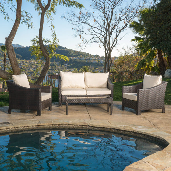 4pc Outdoor Wicker Sofa Set - NH360692