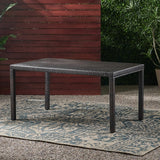 Outdoor Multibrown Wicker Rectangular Dining Table - NH872003