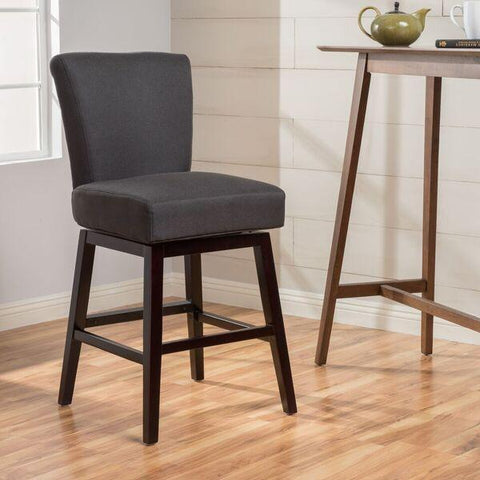 32-Inch Fabric Swivel High Back Barstool - NH597003