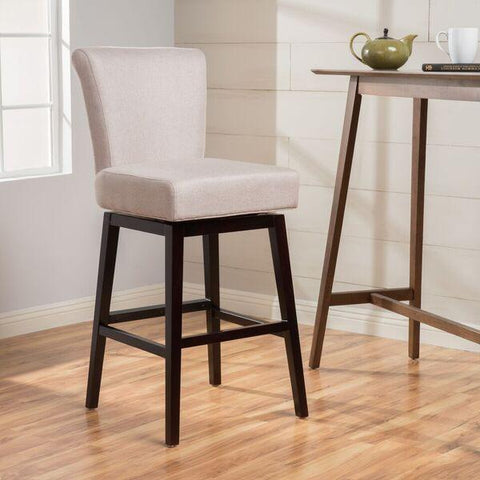 28-Inch Fabric Swivel High Back Counter Stool - NH897003