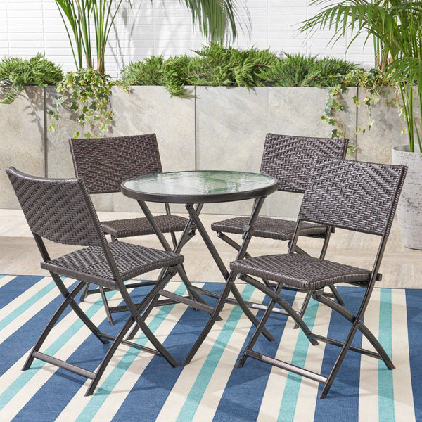 5pcs Outdoor Wicker Bistro Set - NH164692