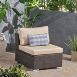 Outdoor Wicker Sectional Sofa Seat w/ Cushions - NH040103
