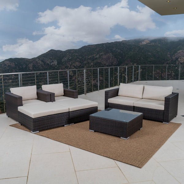 Outdoor Wicker Sectional w/ Cushions - NH805003