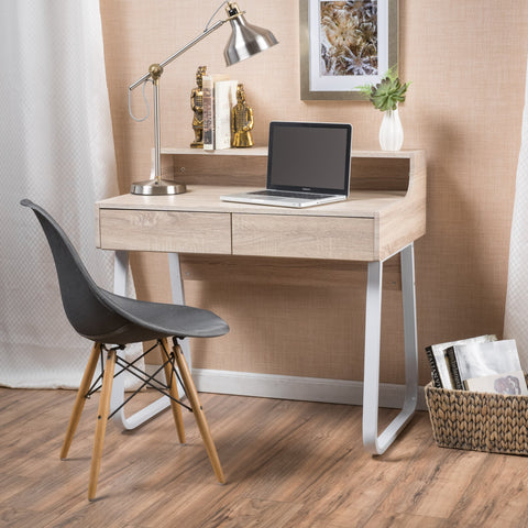Wood Computer Desk with Drawers - NH607692