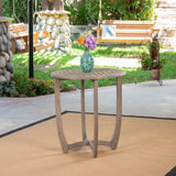 Outdoor Acacia Wood Bistro Table, Gray - NH531503