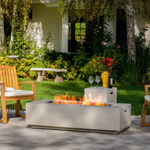 Outdoor Fire Table with Lava Rocks & Tank Holder - NH666692