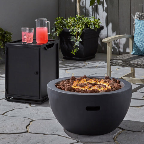 "Fast Outdoor 27"" Bowl Shaped Fire Pit - NH731803"