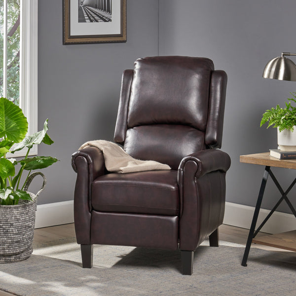 PU Leather Recliner Club Chair - NH695692