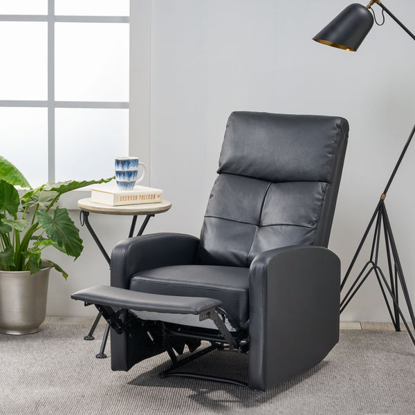 Contemporary Pillow Top Leather Recliner - NH206692