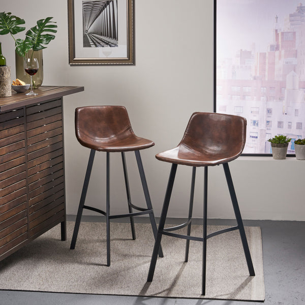 Modern Upholstered Bar Stool (Set of 2) - NH604892