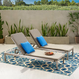 Modern Outdoor Adjustable Chaise Lounge with Cushion - NH032013