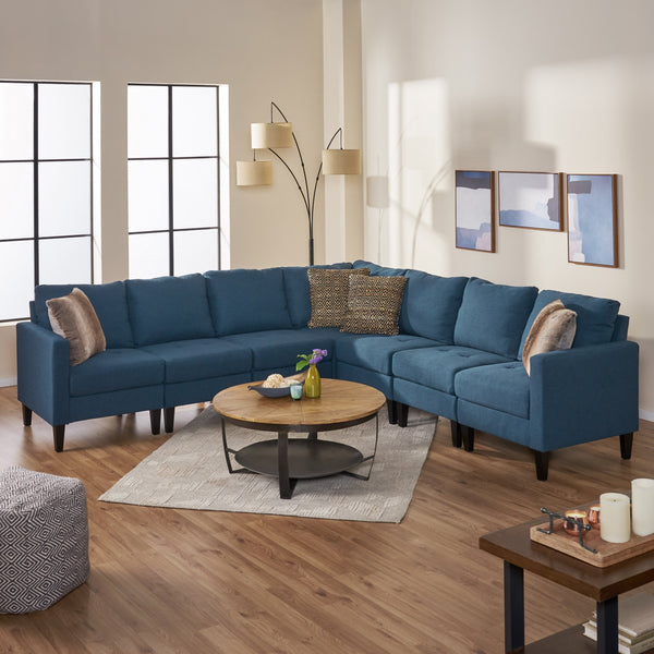 7 Piece Versatile Fabric Sectional Couch - NH755003
