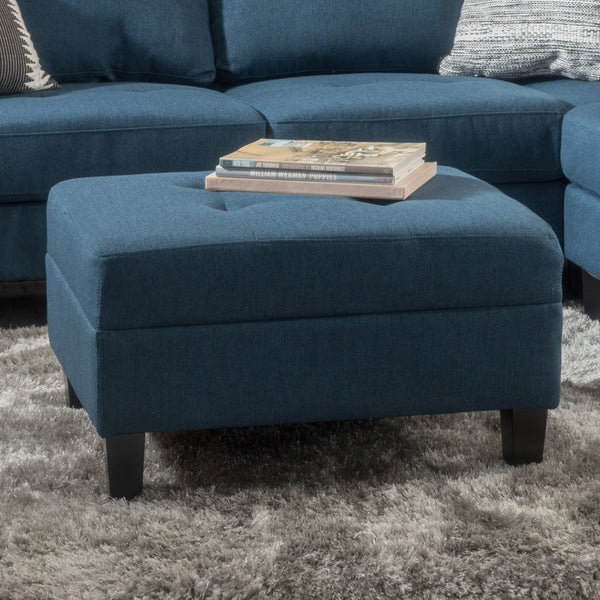 Square Tufted Fabric Ottoman - NH511003
