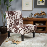Contemporary Fabric Slipper Accent Chair - NH782792