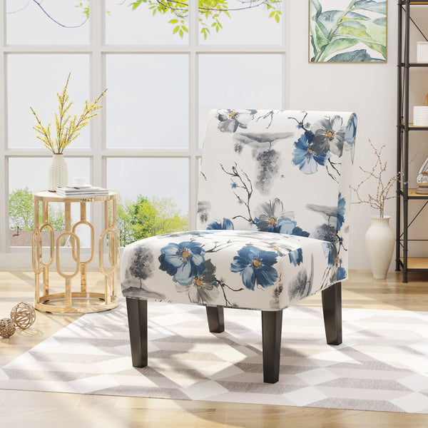 Contemporary Fabric Slipper Accent Chair - NH894503