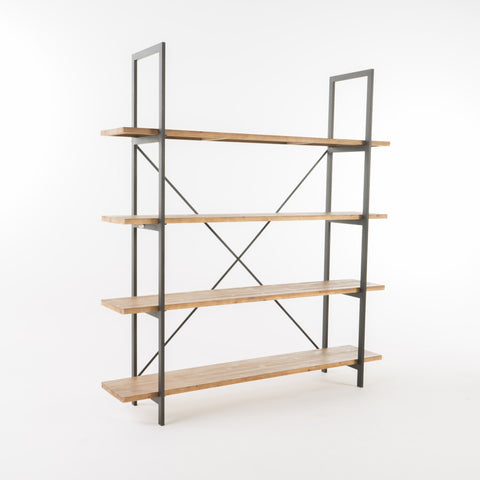 Nielsen Antique Firwood and Iron Bookcase