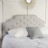 Light Grey Fabric Queen/Full Headboard - NH029892