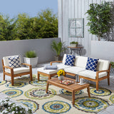 4-Seater Sectional Sofa Set For Patio with Club Chair - NH782703