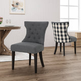 Traditional Two Toned Fabric Dining Chair (set of 2) - NH376503