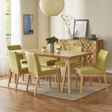 Mid-Century Modern 7 Piece Dining Set with A-Frame Table - NH833313
