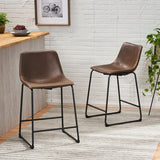 Vintage Style Brown 24-Inch Counter Stool (Set of 2) - NH114892