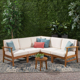 Outdoor 5 Piece Chat Set with Water Resistant Cushions - NH539003