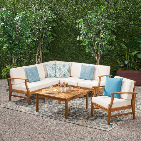 6-Seater Outdoor Wooden Sectional - NH132203