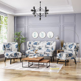 Mid-Century Modern 3-Piece Fabric Chairs & Couch Living Room Set - NH239503