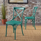 Farmhouse Plastic Nylon Dining Chairs, Set of 2 - NH639103