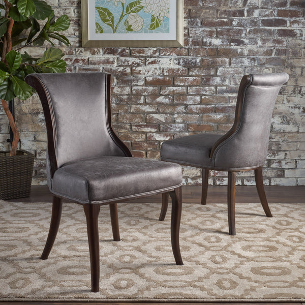 Classic Slate Microfiber Dining Chair - Set of 2 - NH038103